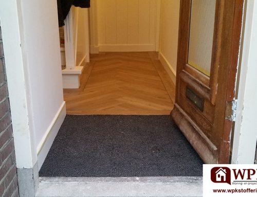 Visgraat PVC laminaat met vaste deurmat